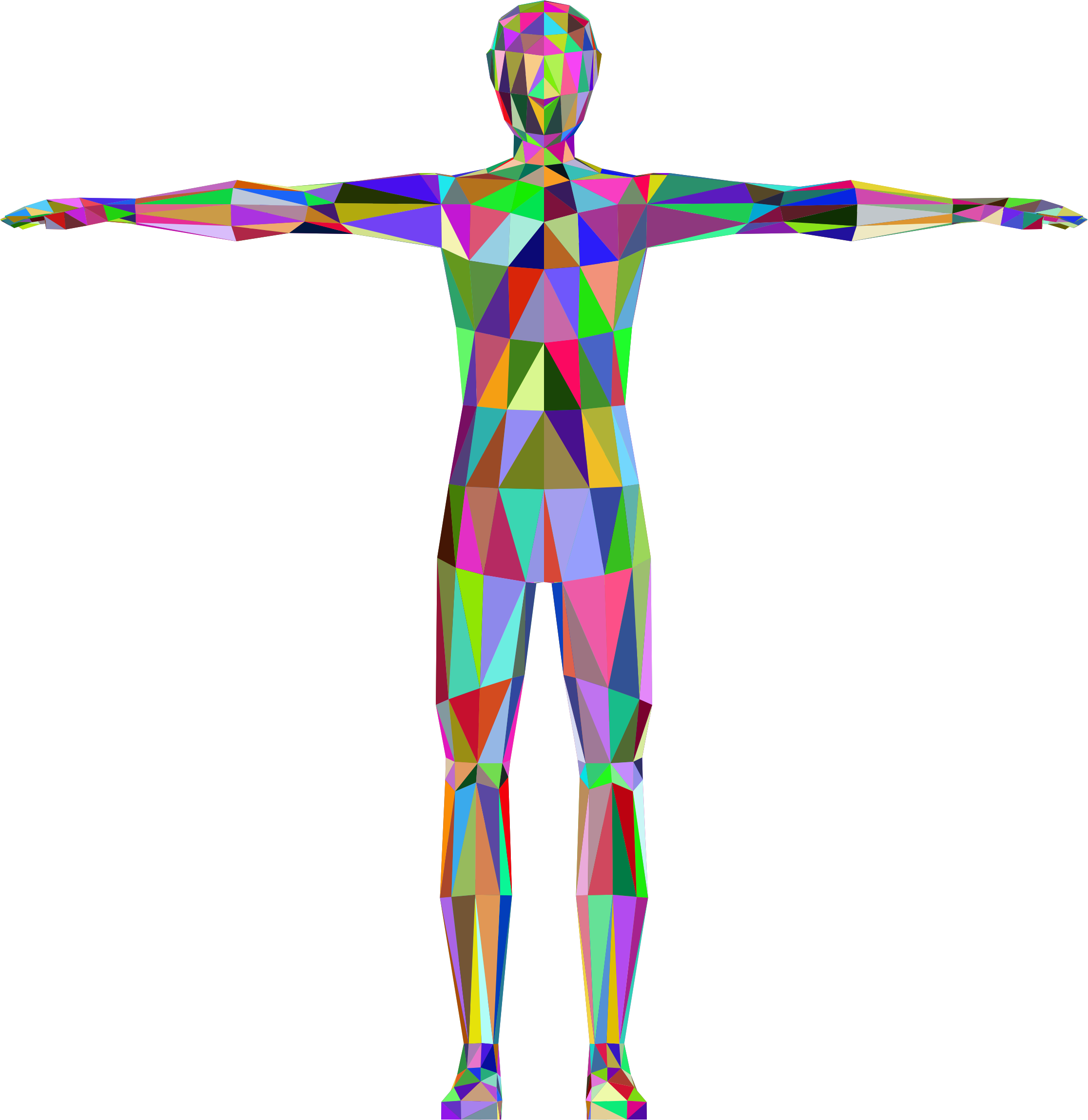 Human clipart 3d human. Prismatic low poly male