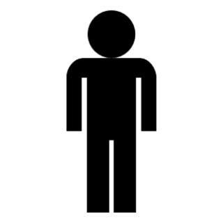 Human clipart. Person symbol clip art