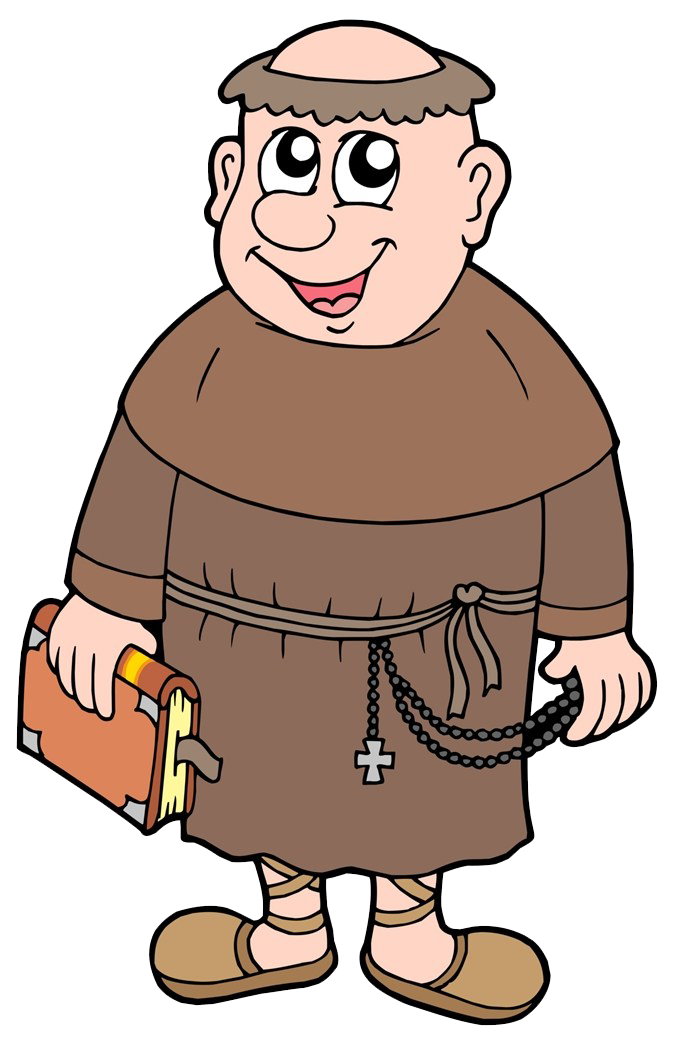 Monk royalty free clip. Humans clipart brown hair guy