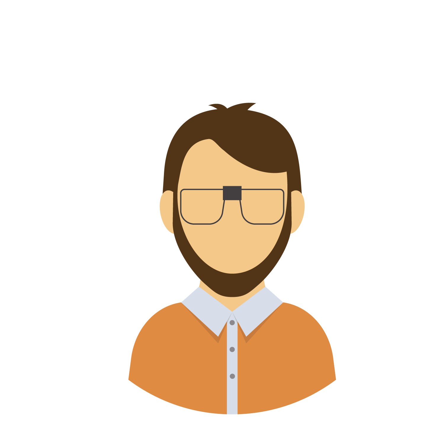 Humans clipart college student. Cartoon drawing wearing glasses