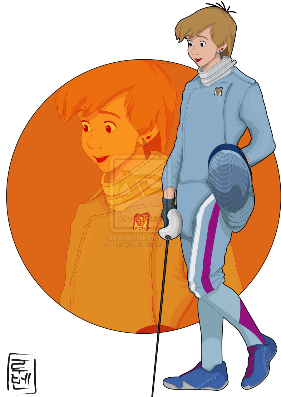 Disney characters as students. Human clipart college student