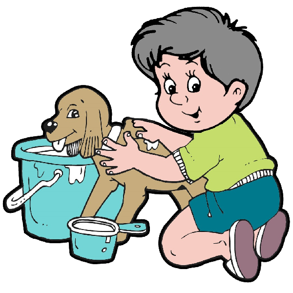 Human clipart grooming. Dog puppy clip art