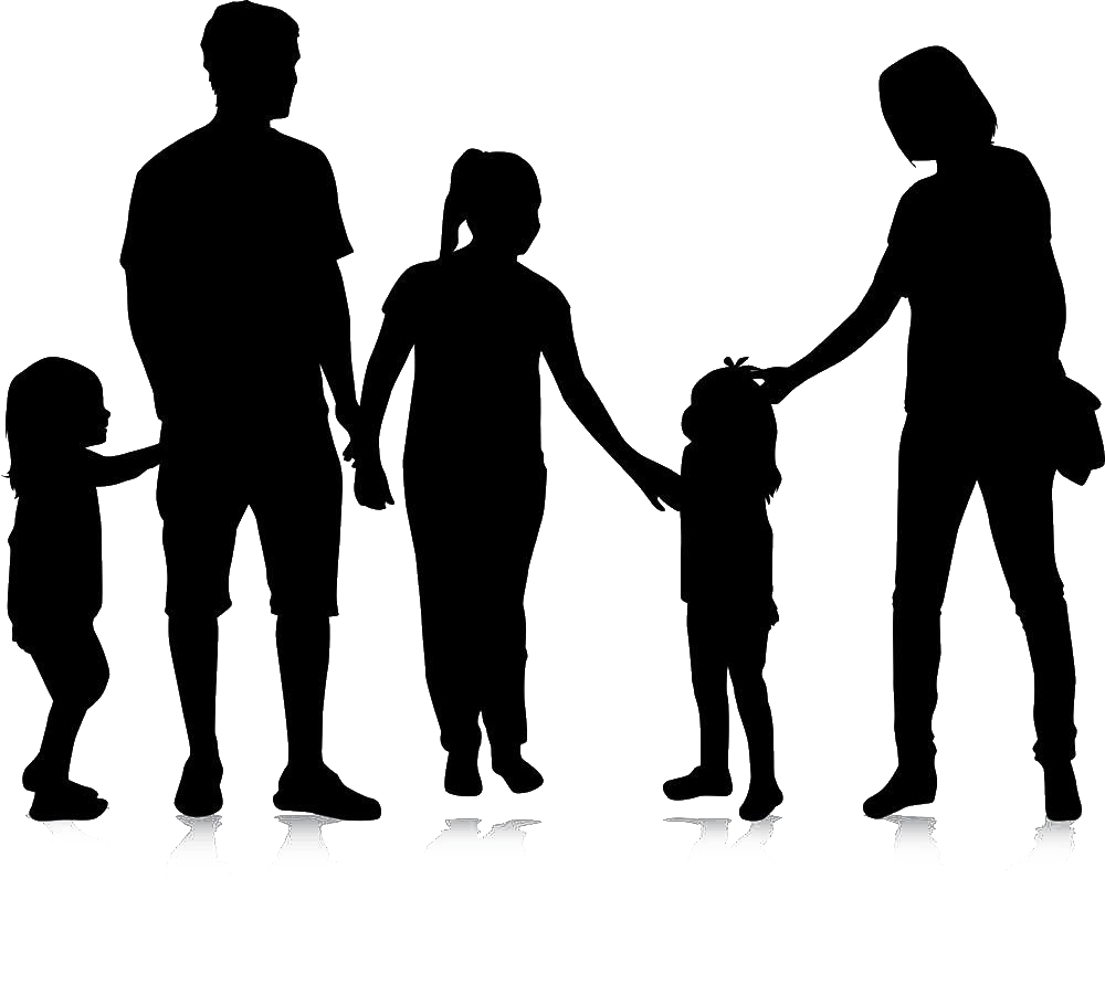 Human clipart human family. Silhouette royalty free clip