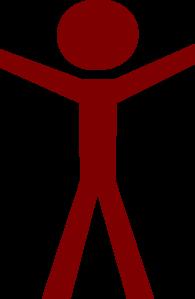 Human clipart human figure. Hands open red clip