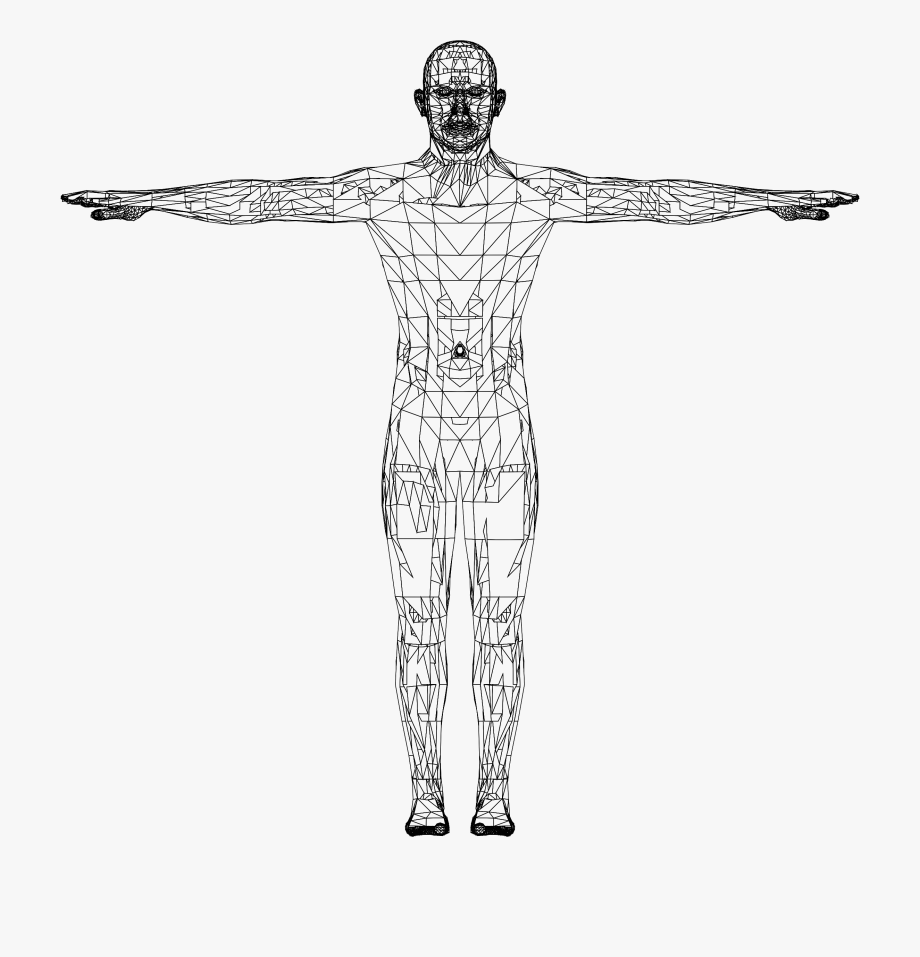 Body drawing detailed icon. Human clipart human figure