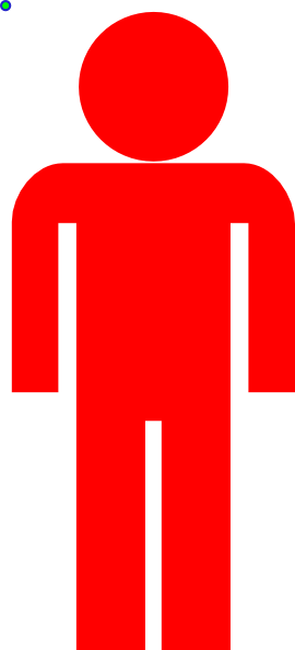 Human clipart human icon. Red clip art at
