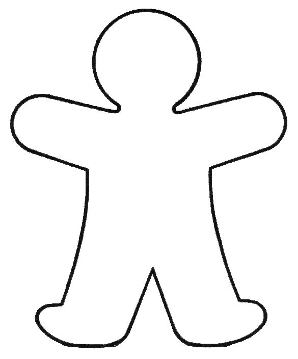 Human clipart human shape. Outline template free download
