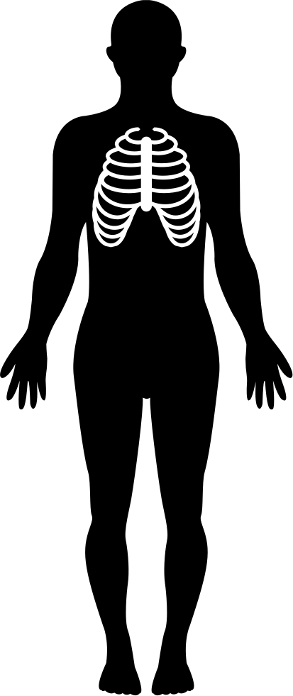 Body with focus on. Human clipart human silhouette