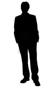 Human clipart human standing. Bridesmaid silhouettes business man