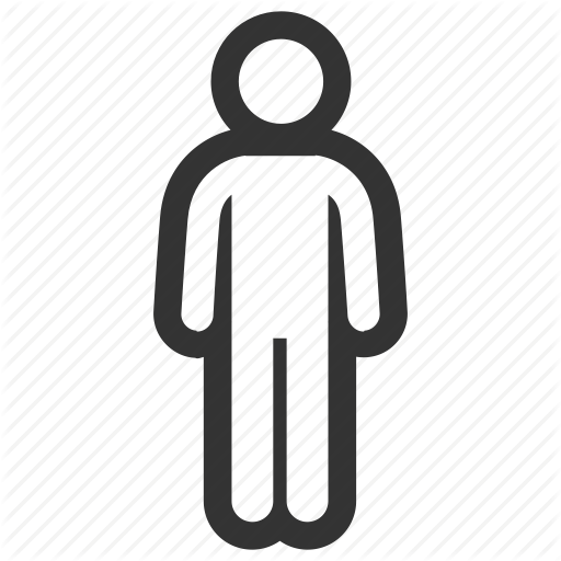 Person icon transparent background. Human clipart human symbol