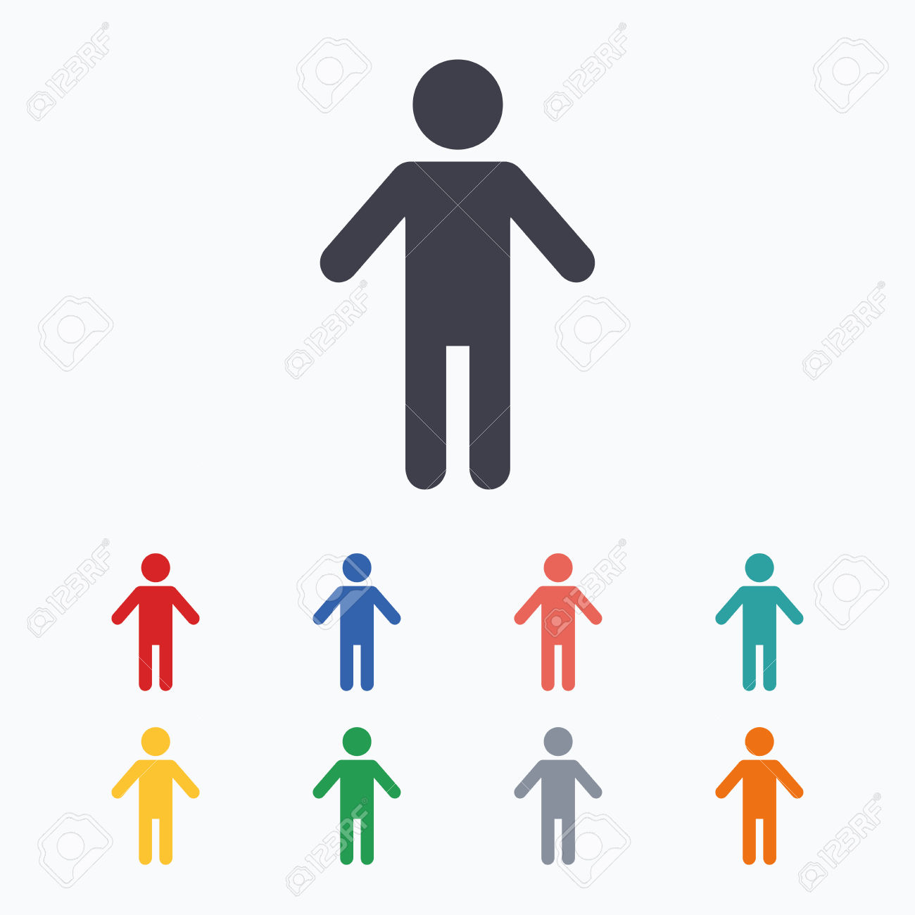 Human clipart human symbol. Person icon free download