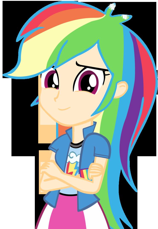 Human clipart human vector. Rainbow dash by cool