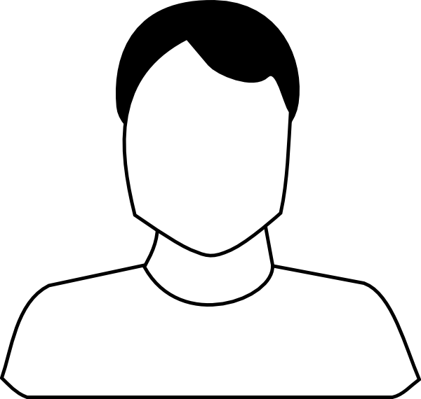 nose clipart black and white