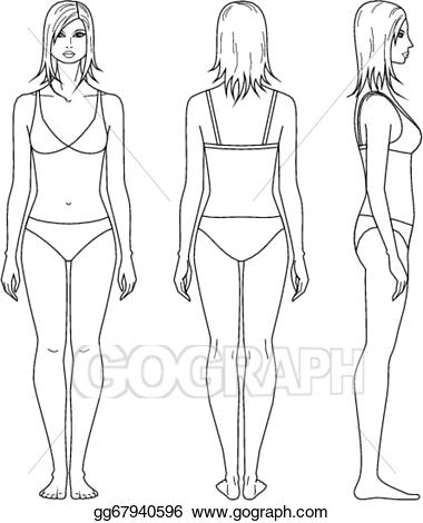 Vector stock woman clip. Human clipart lady figure