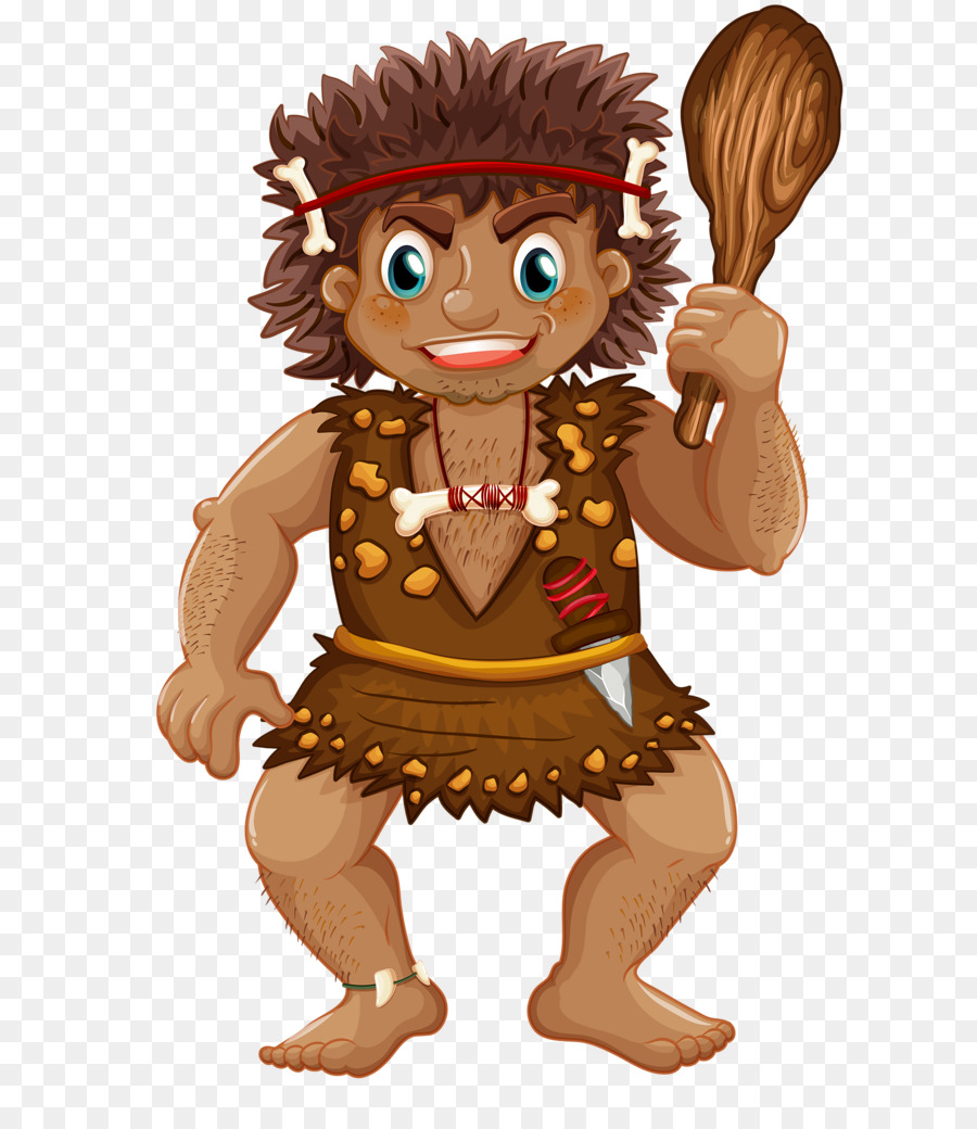 Humans clipart neanderthal man. Cartoon png download free