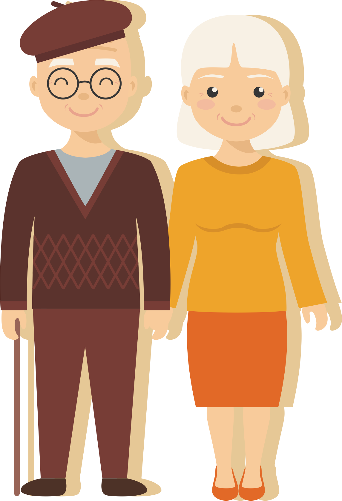 Age illustration love couples. Old clipart aged person