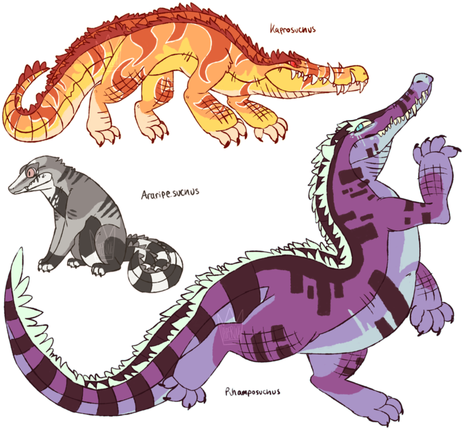Human clipart prehistoric. Crocodyliform adoptables closed by