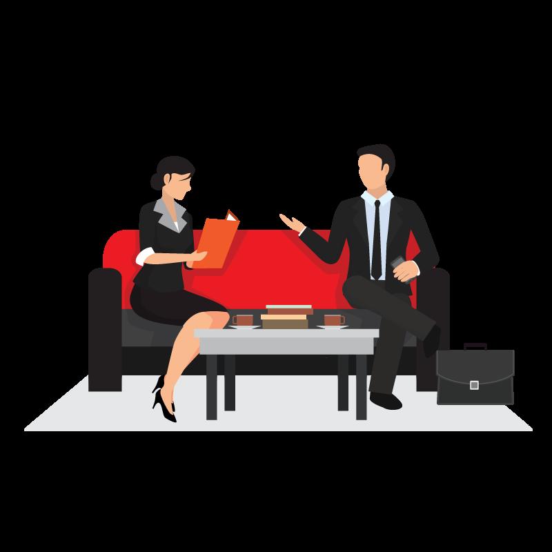 Job business question transprent. Human clipart recruitment interview