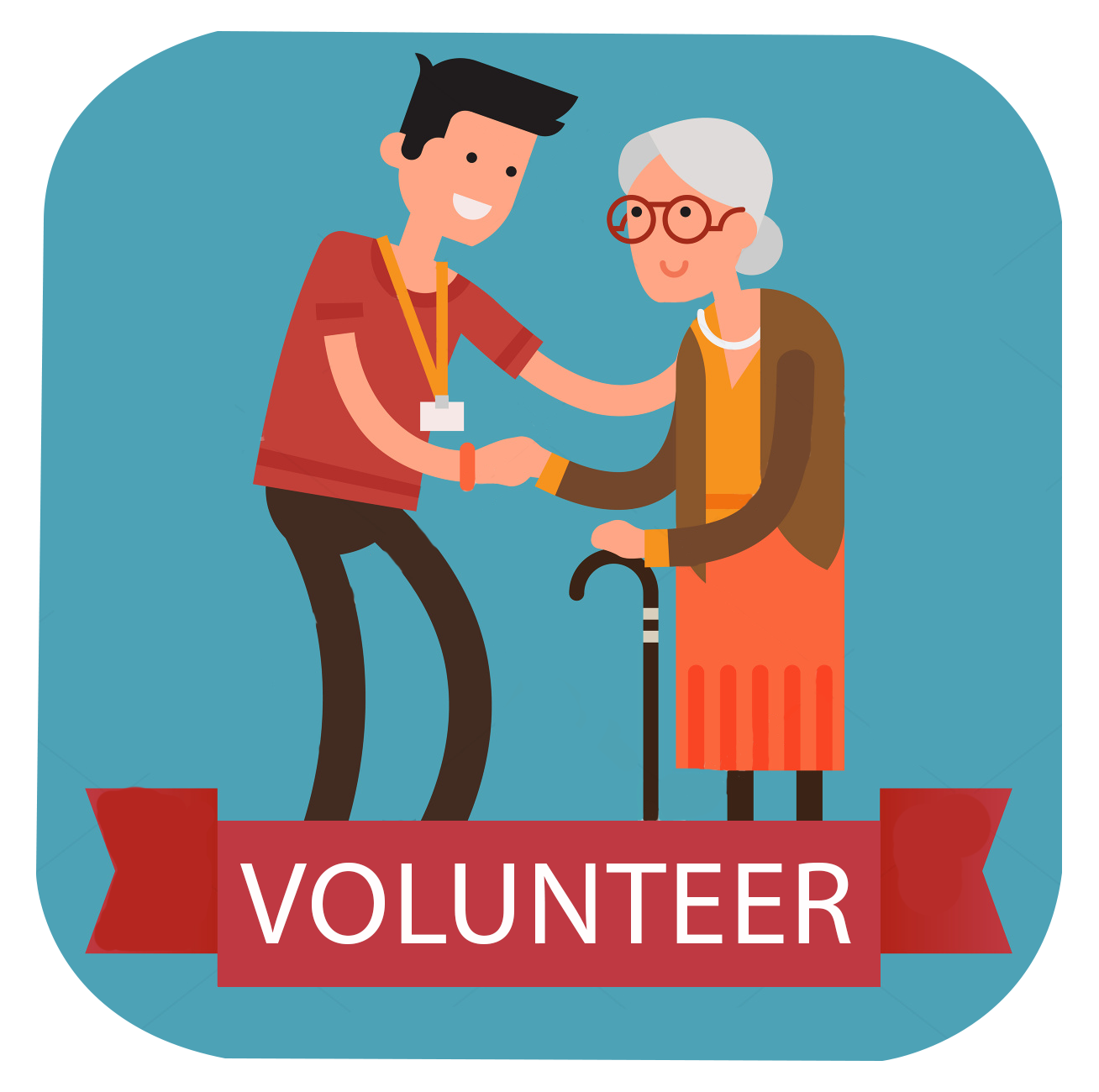 Old age aged care. Professional clipart allied health