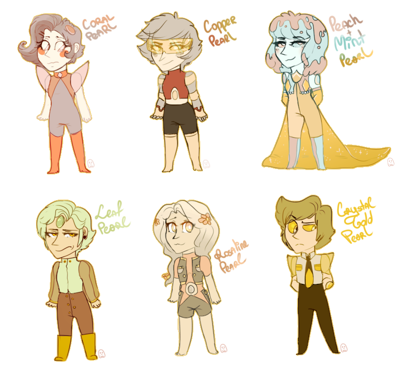 Human clipart six person. Pearl adopts by ghostfacenikol