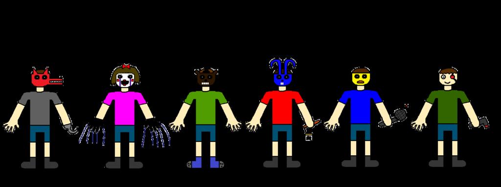 Human clipart six person. Underfnaf souls by justsimon