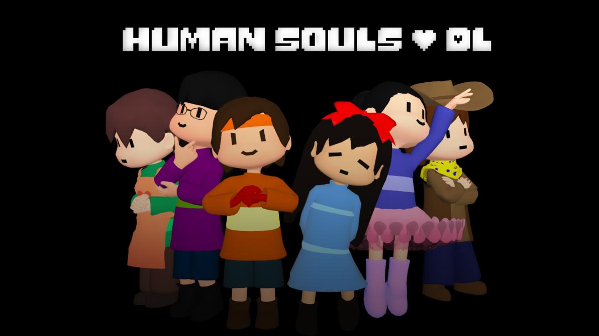 Mmd undertale souls dl. Human clipart six person