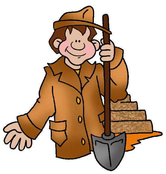 Archaeology for kids bronze. Human clipart stone age man