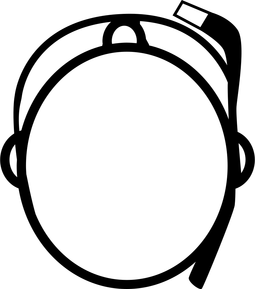 Human clipart top view. Google glasses on person