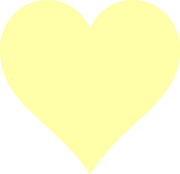 Heart clip art at. Human clipart yellow