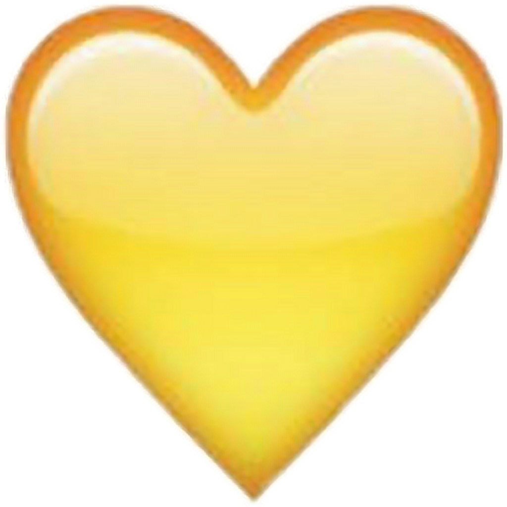 Yellowheart sticker heart snapchat. Human clipart yellow