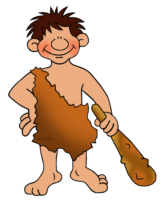 Ancient humans working . Human clipart neanderthal man