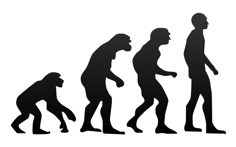 Humans clipart ancient human. Continue to evolve