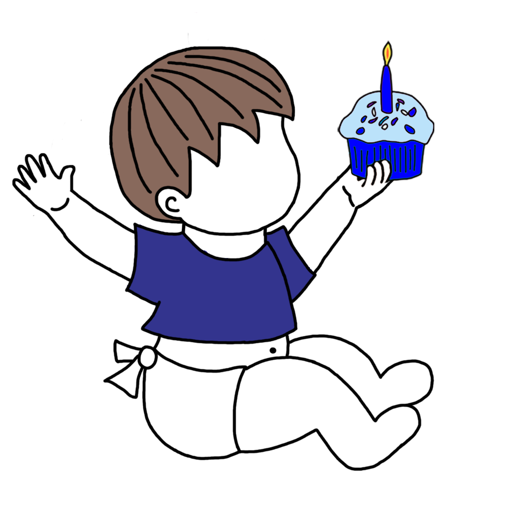 Babys st birthday t. Humans clipart brown hair guy