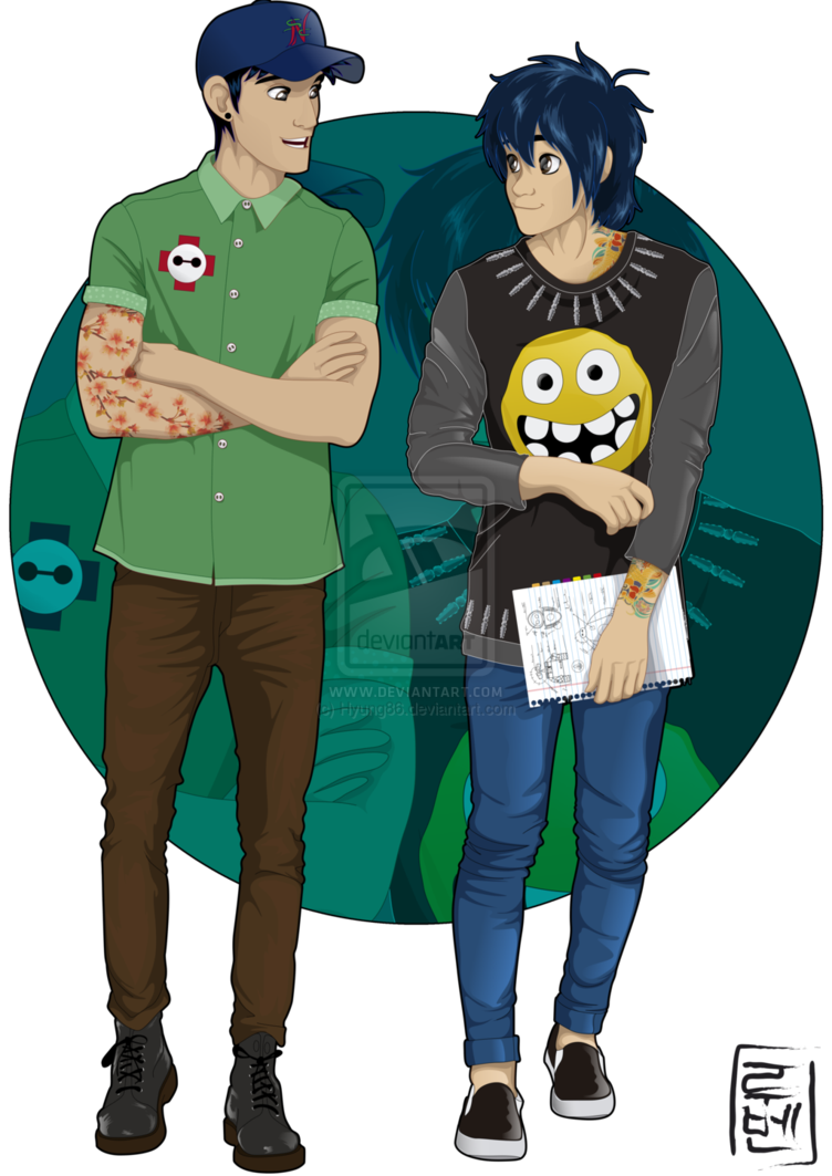 Hiro and tadashi are. Humans clipart college student