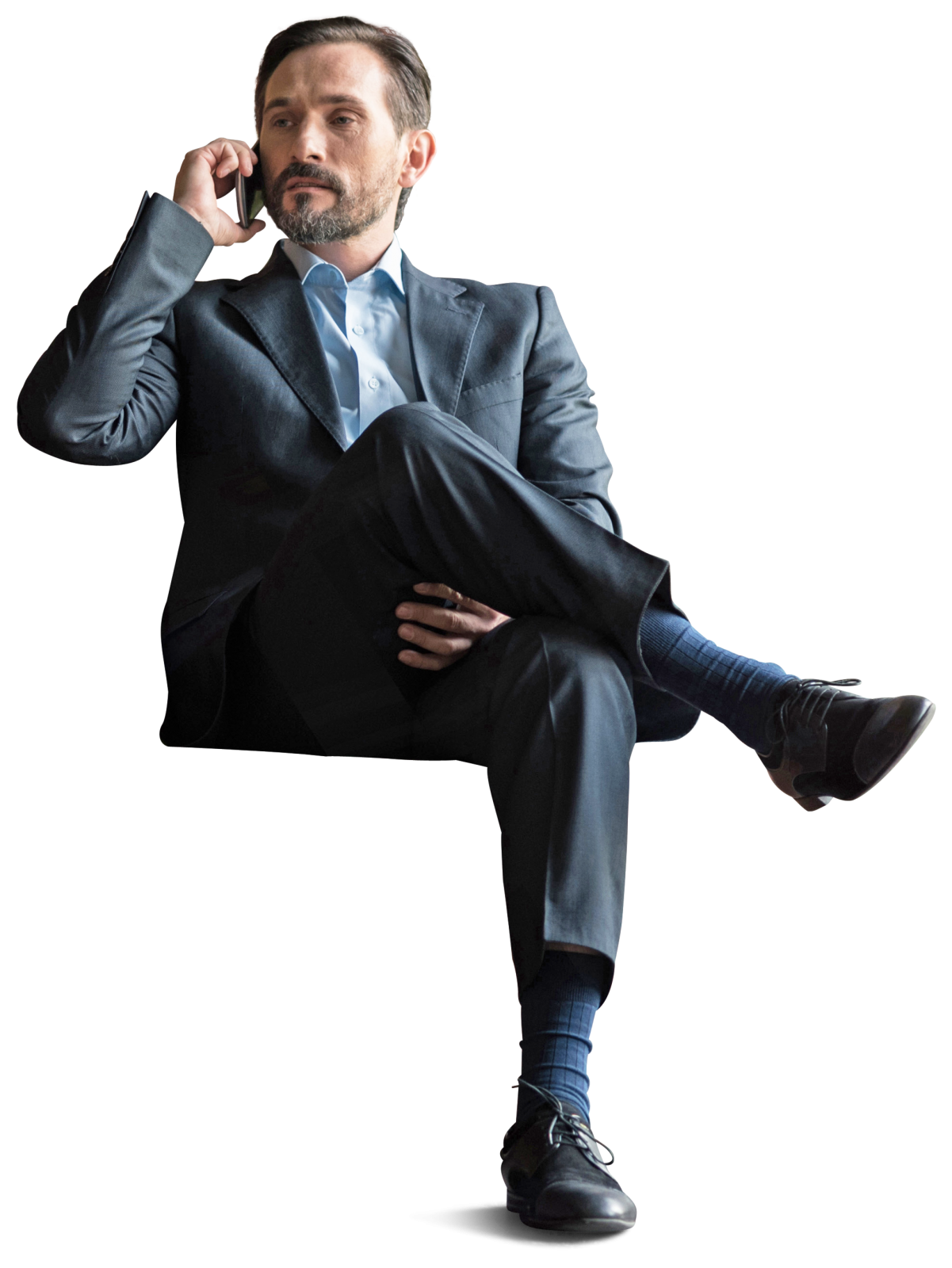 Humans clipart cutout. Office businessman sitting with
