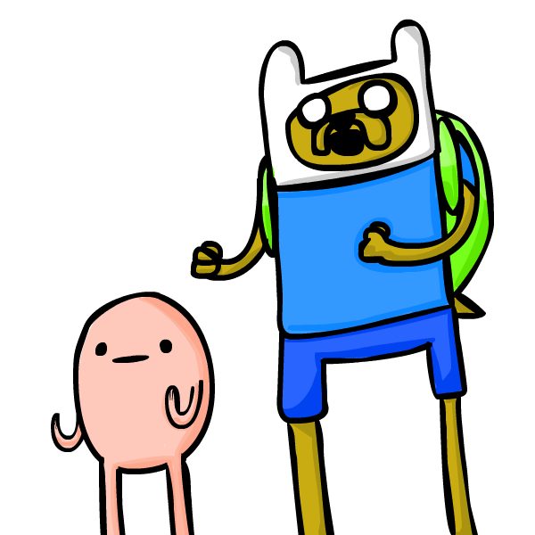 Humans clipart finn. Jake the dog and