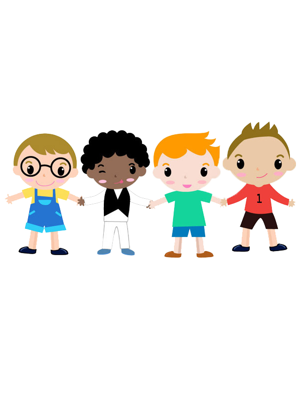 Cartoon child drawing boy. Humans clipart four person