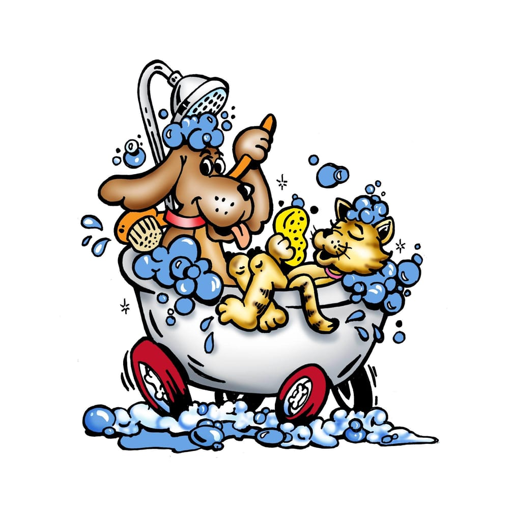 Humans clipart grooming. Bath time mobile pet