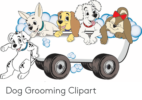 Dog meme on me. Humans clipart grooming