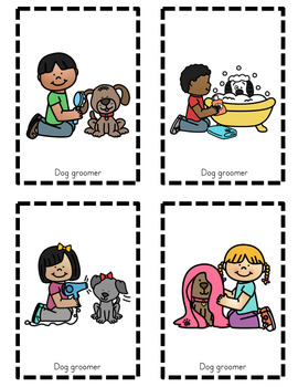 Dog dramatic play set. Humans clipart grooming