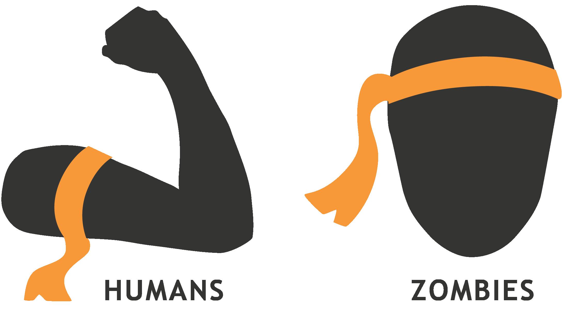 Zombie clipart leg. Nphvz humans vs zombies