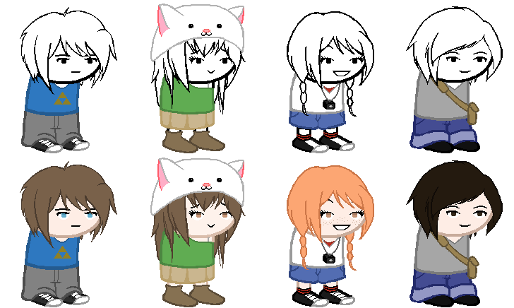 Humans clipart human action. The kids homestuck sprites