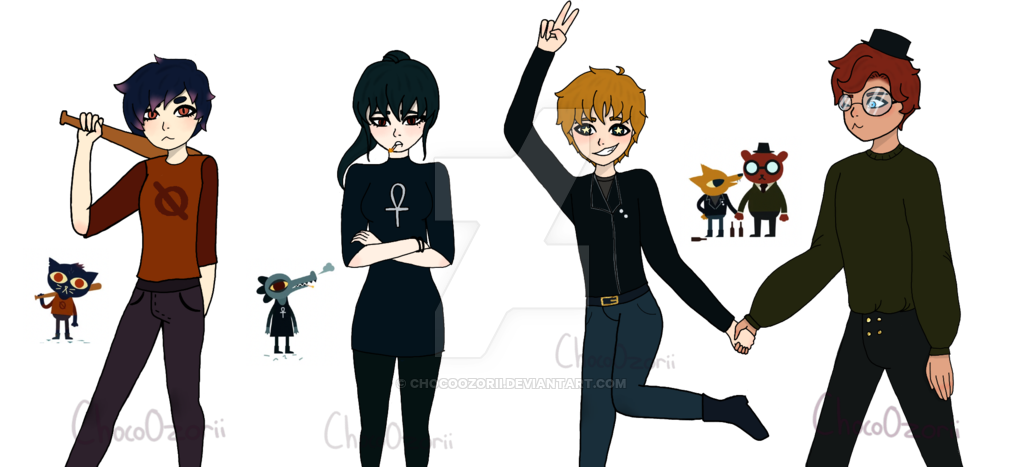 Nitw main characters au. Humans clipart human character