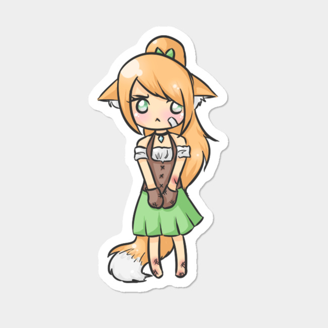 Humans clipart human girl. Pouty fox sticker by