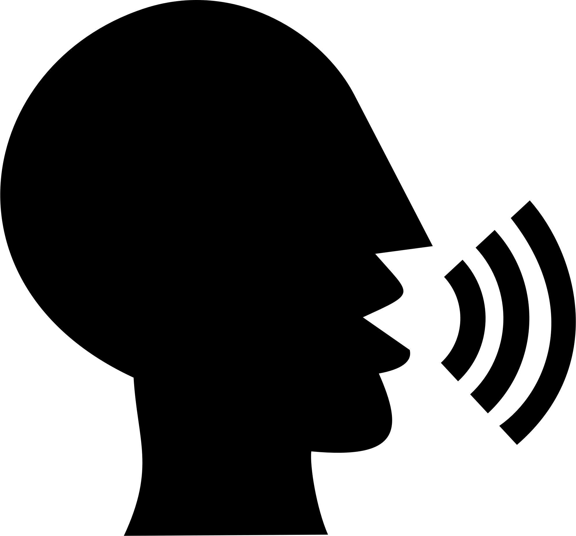 Silhouette head at getdrawings. Yelling clipart speak loud