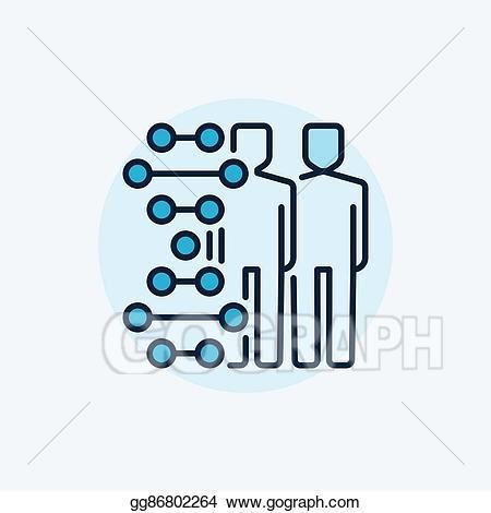 Humans clipart human symbol. Vector art cloning flat