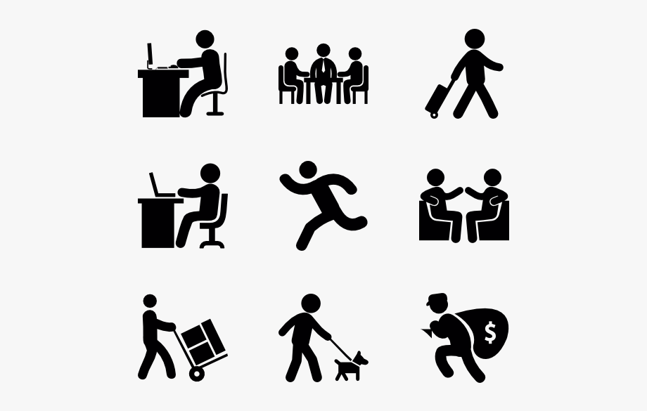 Humans clipart human symbol. Active throughout the day