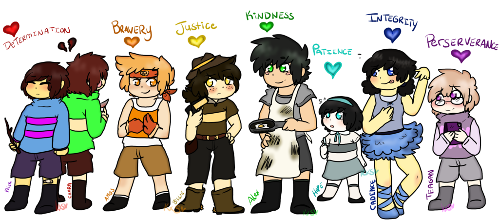 Undertale the fallen humans. Kindness clipart humanity