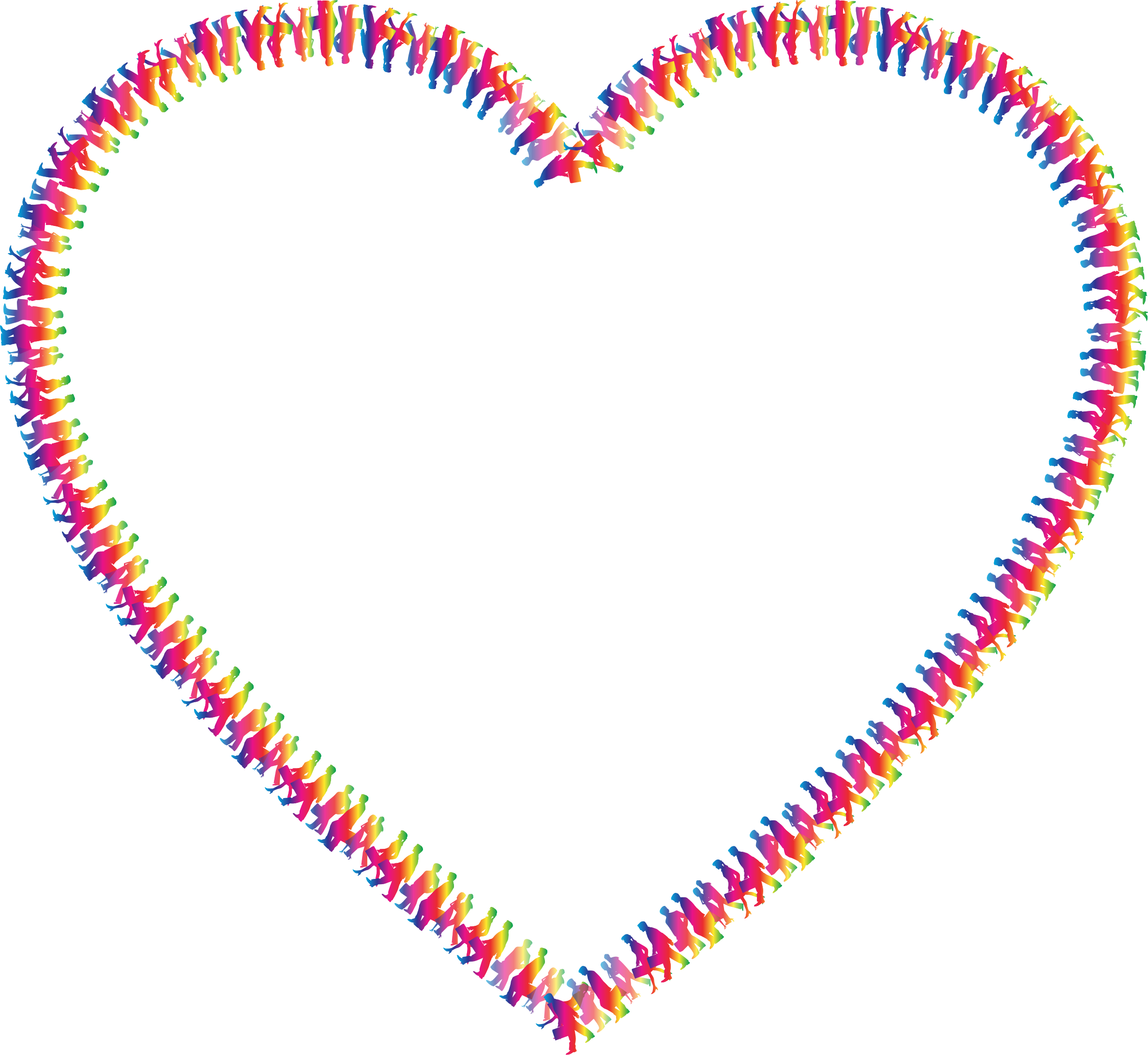 People heart big image. Humans clipart love
