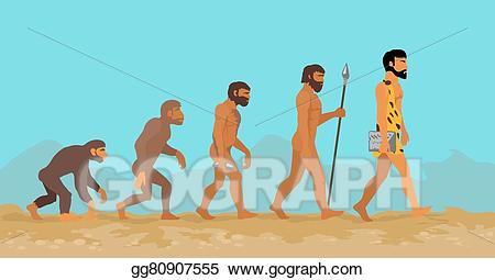Humans clipart mankind. Vector illustration concept of